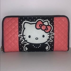 Loungefly Hello Kitty quilted zip around wallet